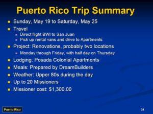 Puerto Rico Trip Summary